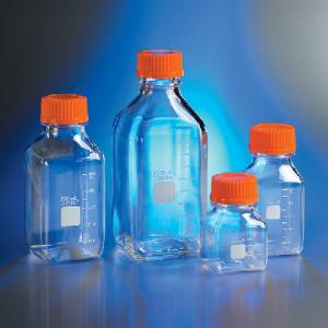 Storage Bottles, Square, Polycarbonate, Sterile, Corning®