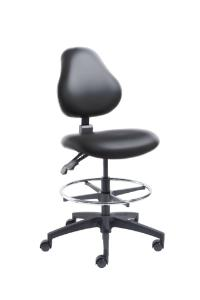 VWR® Upholstered Lab Chairs, CAL 133, Bench Height, Dual Soft-Wheel Casters