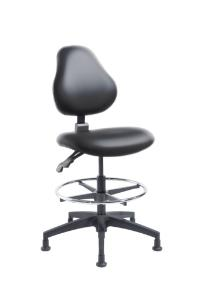 "VWR® Upholstered Lab Chairs, CAL 133, Bench Height, 2"" Nylon Glides"