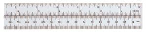 Metric and English Plastic Ruler