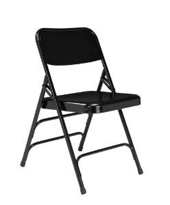 300 Series Deluxe All-Steel Triple Brace Double Hinge Folding Chair