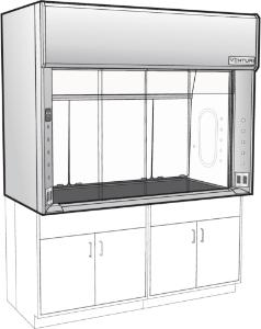 Venturi V07-General Purpose Bench Fume Hood with Horizontal Sash, KMER Liner, Kewaunee Scientific