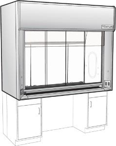 Venturi V16 General Purpose Bench Fume Hood, ADA with Combination Vertical/Horizontal Sash, Kewaunee Scientific