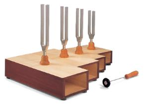 C-Major Tuning Forks Set on Resonance Box