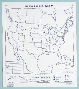 Erasable Weather Map/Climagraph Chart