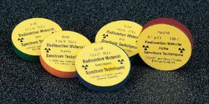 Calibrated Radioactive Sources, Gamma Source Set (Set of 8)