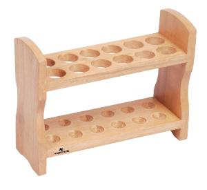 Double Row Wood Test Tube Rack