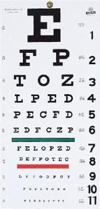 Grafco® Hanging Eye Chart