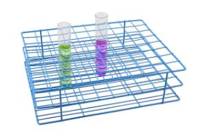 Blue Epoxy-Coated Steel Wire Test Tube Racks