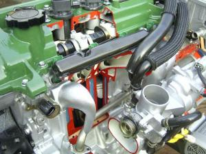 Hybrid Cut-Away Engine