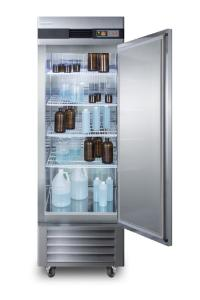 Medical laboratory series refrigerator with solid doors and casters, 23 cu.ft.