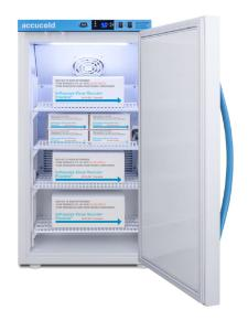 Pharma-vaccine series refrigerator with solid doors, 3 cu.ft.