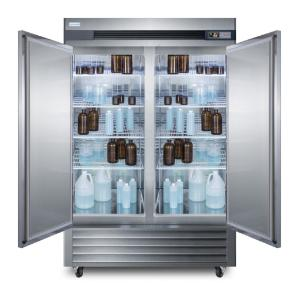 Medical laboratory series refrigerator with solid doors and casters, 49 cu.ft.