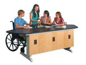 Adjustable Height Student Workstations, EZ Lift