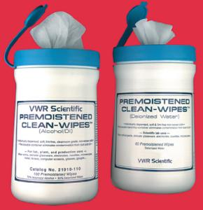 VWR® Premoistened Clean-Wipes