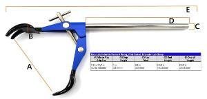 Premium four-prong clamp, vinyl coated
