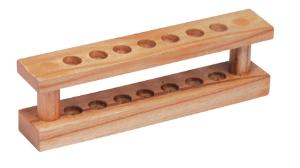 7-Place Wood Test Tube Support