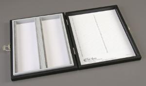 100-Capacity Wood Slide Box